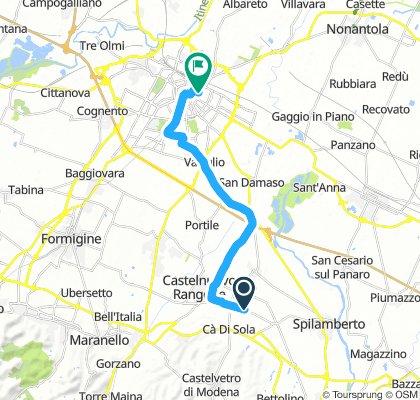 Giro a velocità lenta in Modena