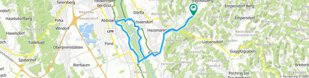 Route im Schneckentempo in Ferbersdorf