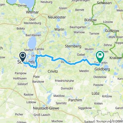 Schwerin-Dobbertin  / 1.Tag von 6 Tagen