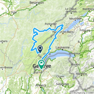 La Givrine-Nozeroy-Môtiers-Genève