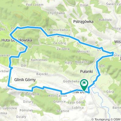 Czerwony szlak rowerowy gminy Frysztak