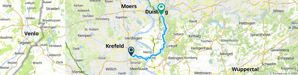 Bösinghoven über Rheinfähre nach Duisburg
