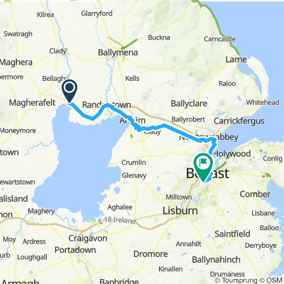 Toome to Belfast