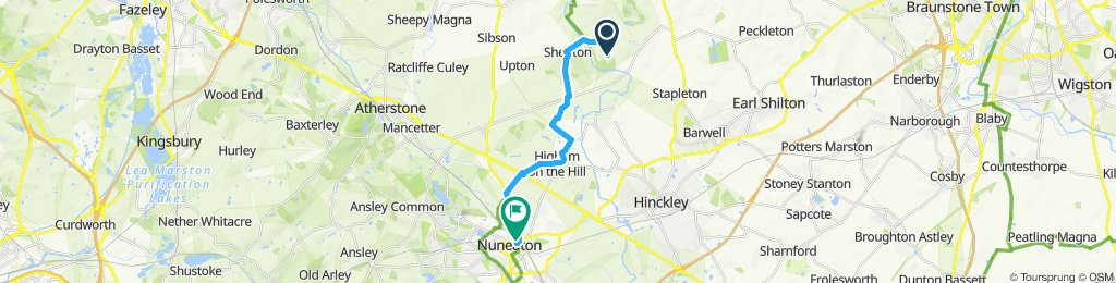 Nuneaton to Bosworth Battlefield Centre return