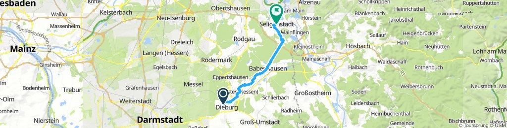 Gemütliche Route nach Seligenstadt