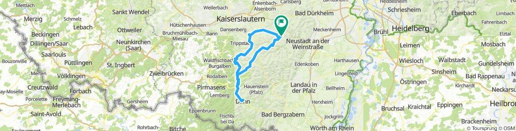 Esthal Pfalztour nach Dahn