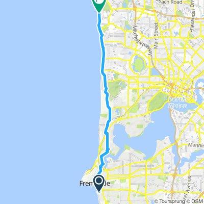 Fremantle to North Beach