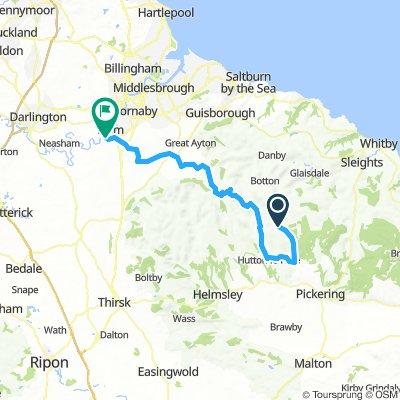 Rosedale to Yarm via Hutton le Hole