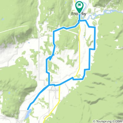 Enderby to Otter Lake & back loop