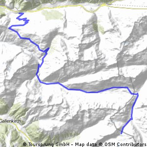 Transalp Etappe 2: Dalaas - Neue Heilbronner Hütte CLONED FROM ROUTE 258893