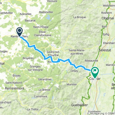 Rambervillers to Colmar