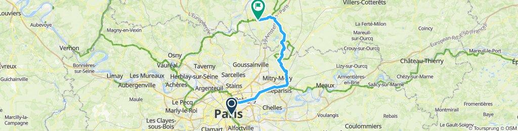 Paris - Avilly par l'est