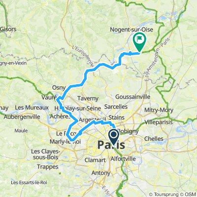 Paris - Chantilly par l'ouest