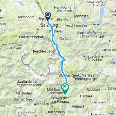 Etappe 3 Salzburg nach St. Johann