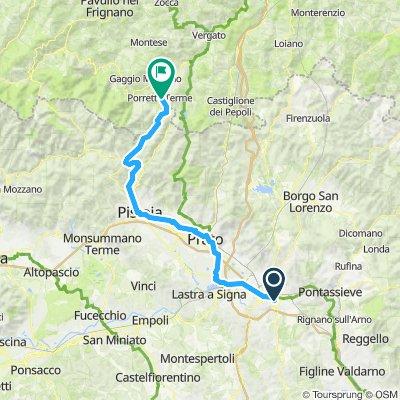 von Florenz nach Poretta Terme
