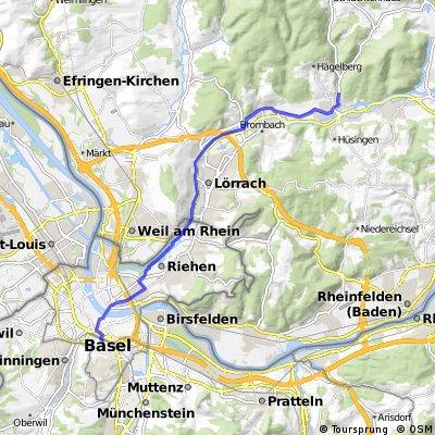 JuHe Basel SBB bis hinter Steinen für Tour EUCOR