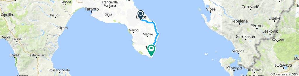19 Lecce - Otranto - Camping S. Maria Di Leuca 94 km