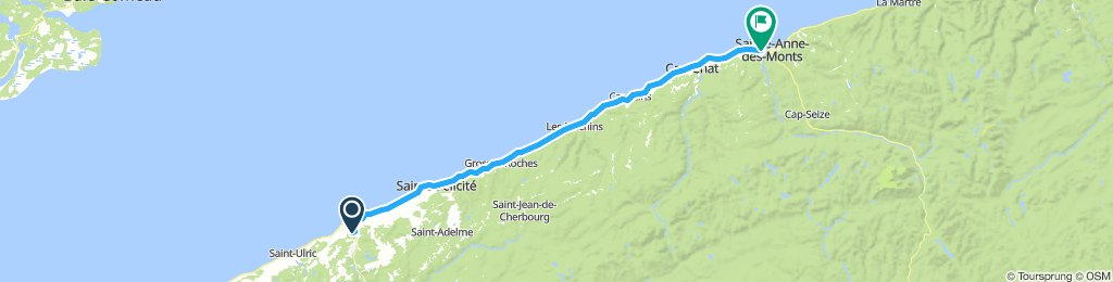 1081102 8of12 QC - 11b Matane, QC to Sainte-Anne-des-Monts, QC (Camping Ancre Jaune) 89km