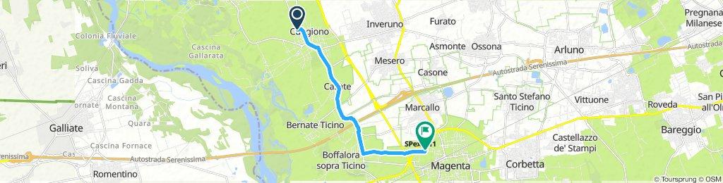 Giro a velocità lenta in Magenta