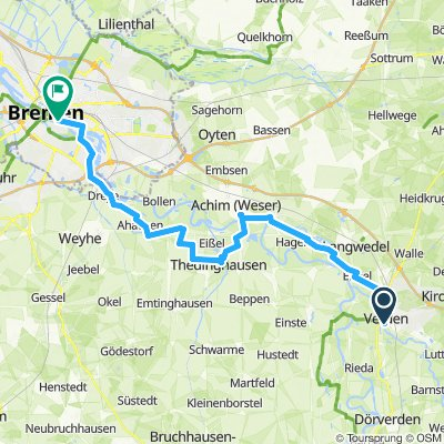 6.Etappe Weser Verden- Bremen