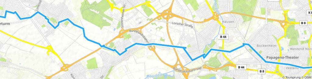 Arbeits Route über Sossenheim