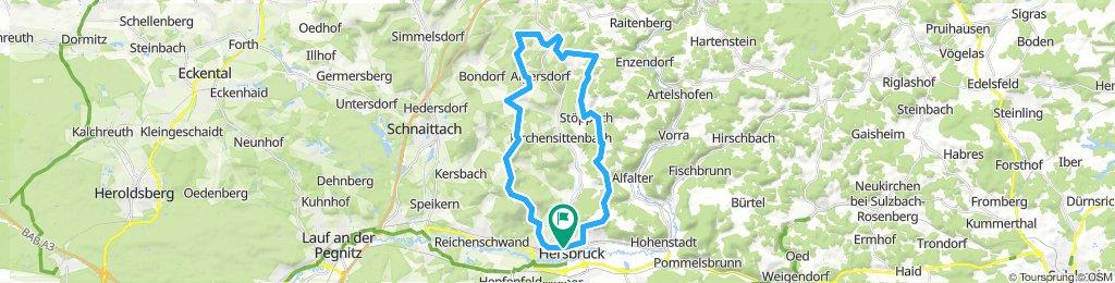 Sittenbachtal Ost nach Hohenstein - West zurück