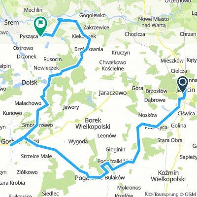 Jarocin - Jaraczewo - Koźmin Wlkp - Pogorzela - Piaski - Gostyń - Dolsk - Śrem
