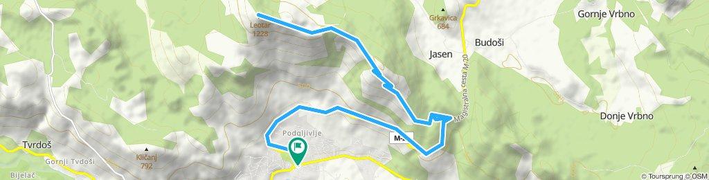 Trebinje - Vrh Leotara i nazad