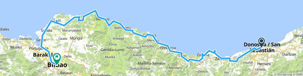 San Seb > Bilboa by the coast