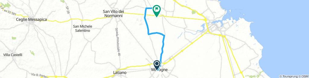 Mesagne grotta San Biagio e ritorno lungo canale reale