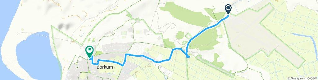 Moderate Route in Borkum