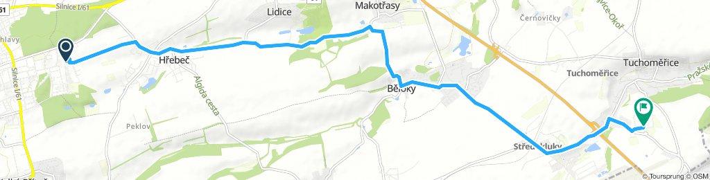 Snail-like route in Tuchoměřice