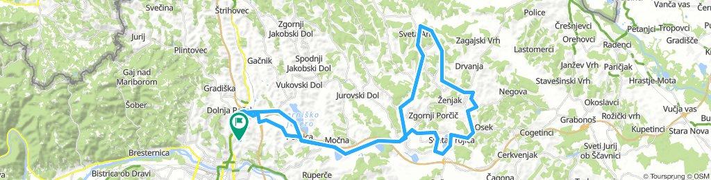 Košaki - Lenart - Sv. Ana - Sv. trije kralji/Benedikt - Sv.Trojica - back to MB