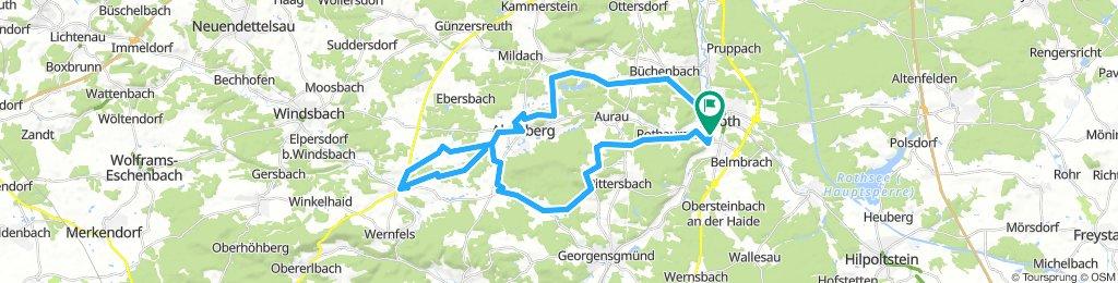 Von Roth über Mäbenberg und über Abenberg zurück