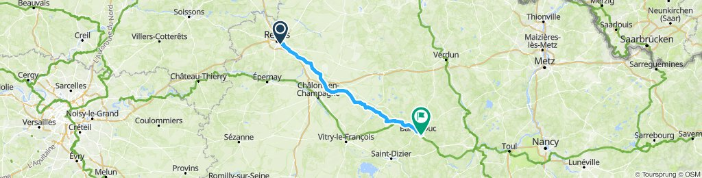 monday 29th july reims to bar le duc