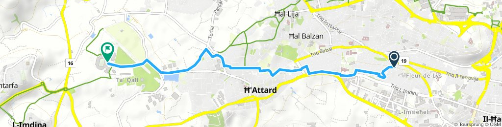 Snail-like route in Attard