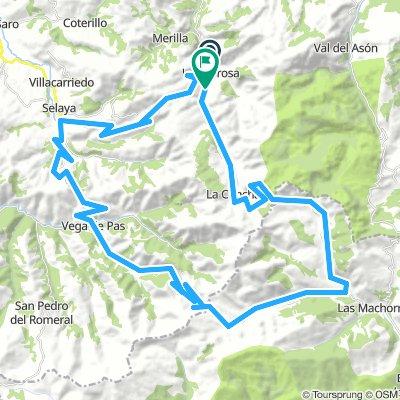 San Roque de Riomiera>LUNADAESTACAS DE TRUEBA>Vega de Pas>LA BRAGIA>EL CARACOL> San Roque .  78 Km.