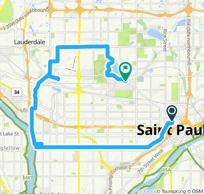 Relaxed route in Saint Paul