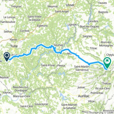 Palazinges-Marcillac-Mauriac-Puy Mary 119km