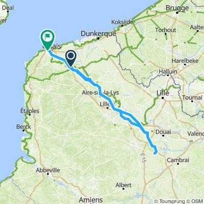 Saturday 27th July Calais to Dury
