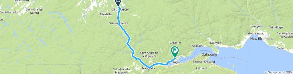1081200 8of12 QC - 12 Causapscal, QC to Pointe-à-la-Croix, QC (Camping Green Park house Gaspésien) 80km