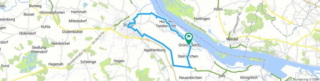 Grünendeich-altländer Viertel-Stade-Mittelnkirch-Grünendeich