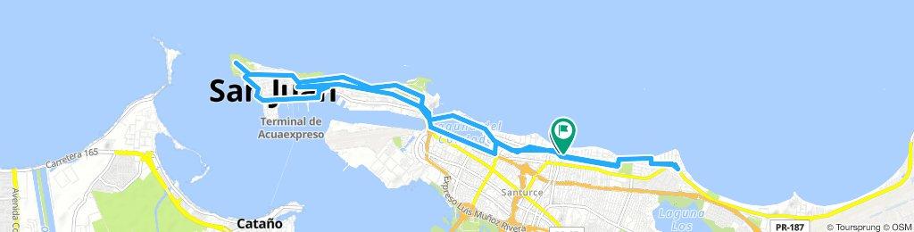 Snail-like route in San Juan