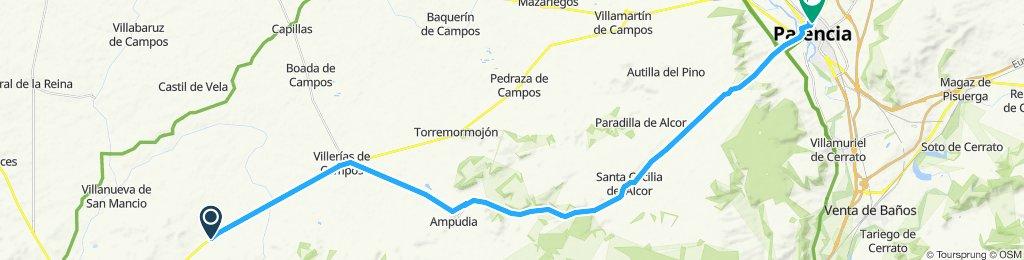 Villanueva de Mancio to Palencia