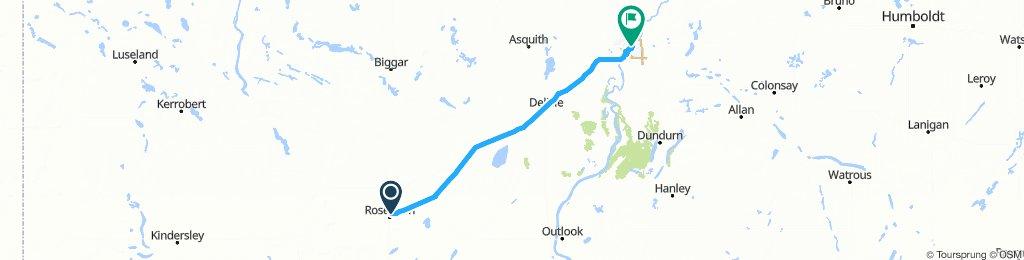 1030302 3of12 SK - 03b Rosetown, SK to Saskatoon, SK (Gordon Howe Park) 120km