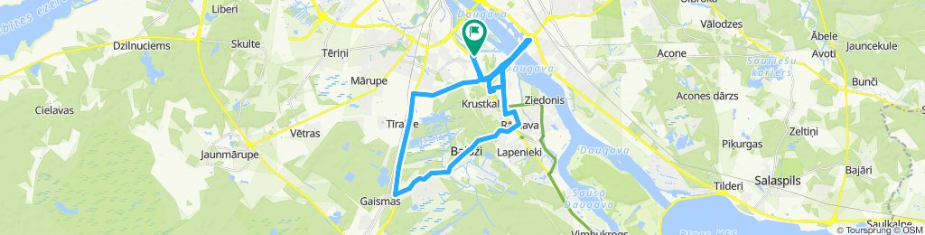 Canyon route in Riga