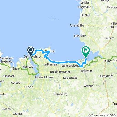 BVCC St Malo to Le Mont St Michel | Bikemap - Your bike routes