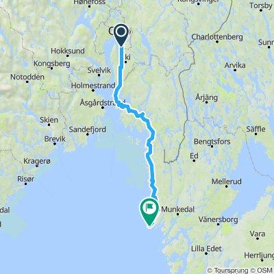 Ytre rute til Smøgen Lørdag