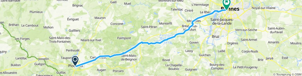 Ploermel a Rennes