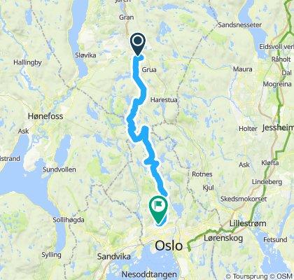 Nordmarka på langs